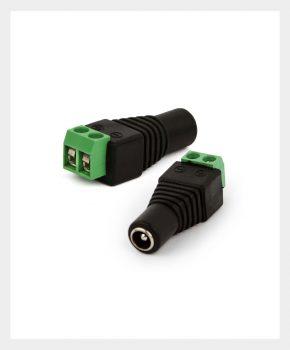 Adaptador Borne X Plug P4 Fêmea, MR2NET Segurança Eletrônica (01)